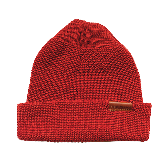 Merino Wool Knit Hat / Red