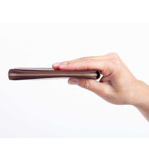 sale retailer f3e34 70620 カードをたくさん入れても薄いファスナー財布 DIMEオリジナル