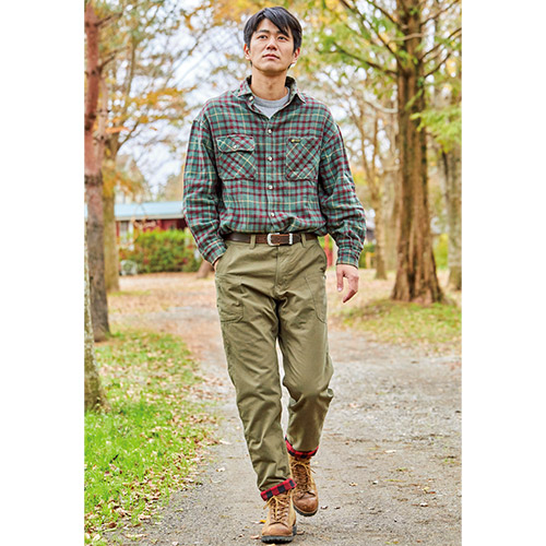 BE-PAL別注カラー CAMP FLANNEL LINING PANTS
