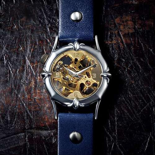 ff88486ac0 シルバー925と真鍮のハンドメイド手巻き式腕時計|大人の逸品公式通販 ...