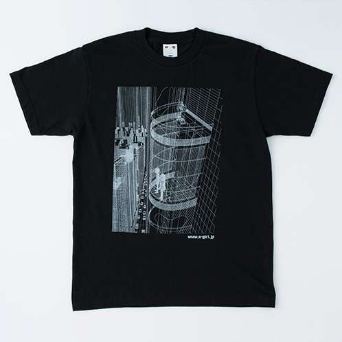 「UMEZZ CITY MENS TEE」ブラック