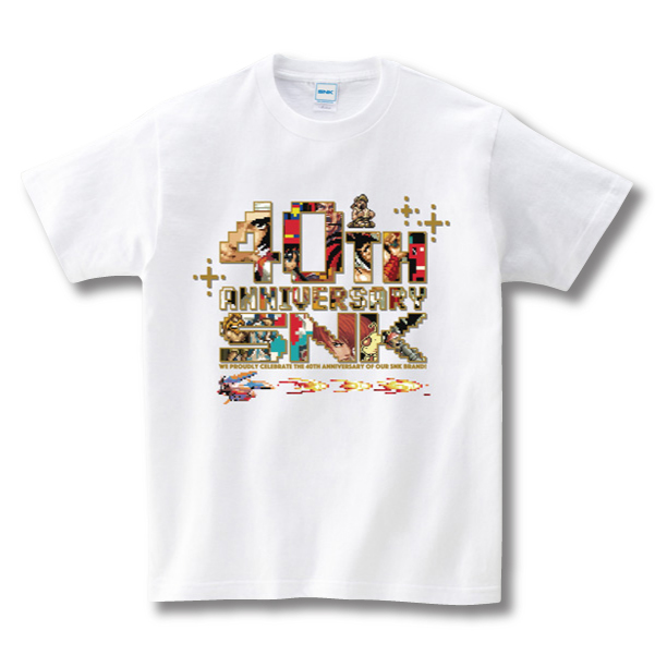SNK 40th Anniversary T-B(WH)