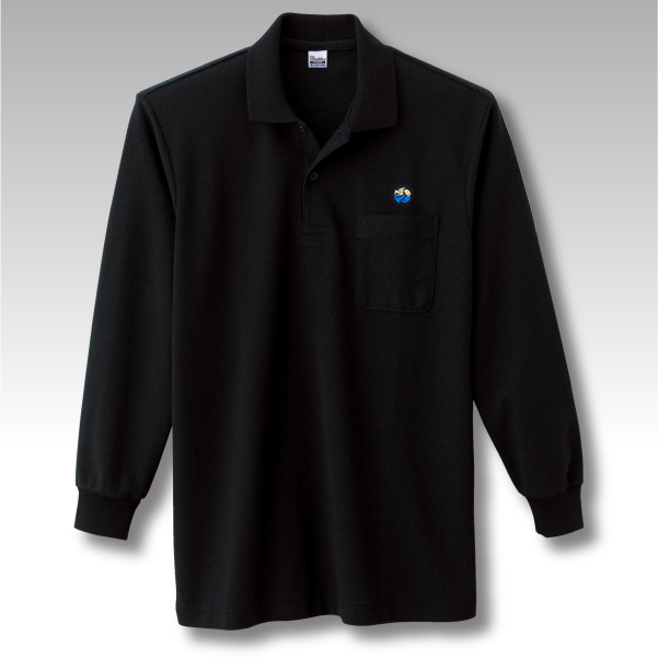 NEOGEO LABEL H GRADE LONG POLO′s BLACK