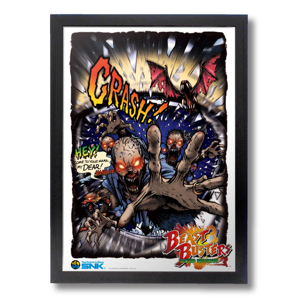 "Reprinting Acrylic Frame Panel ""BEAST BUSTERS"""