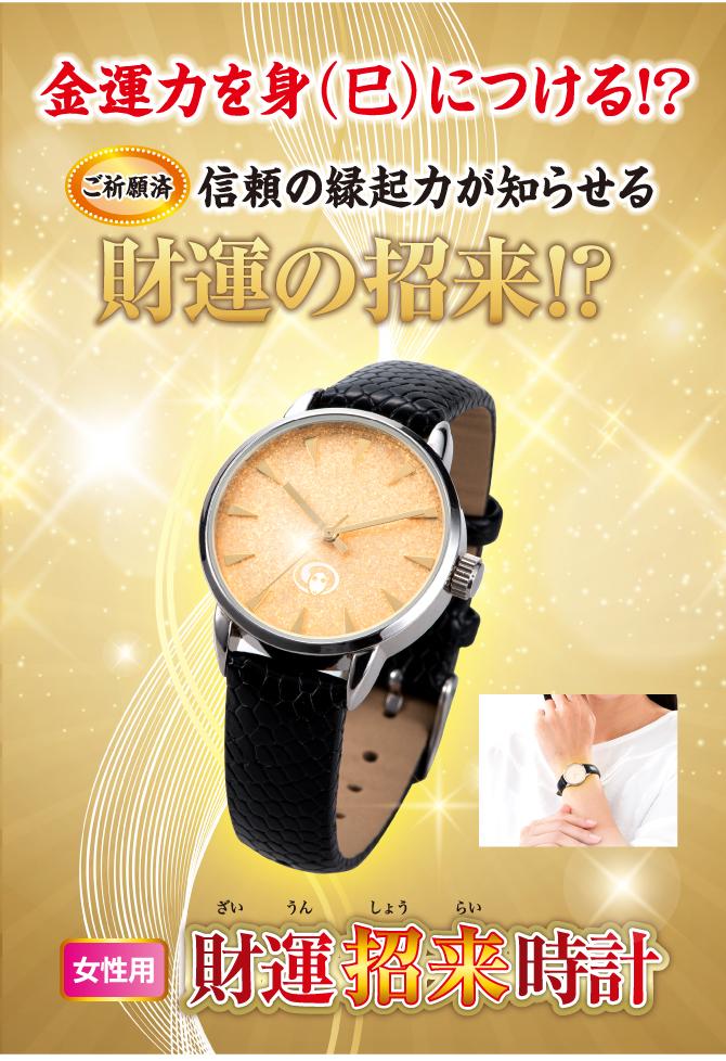 金運力を身(巳)につける!?女性用財運招来時計