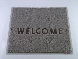 3M 文字入マット WELCOME グレー