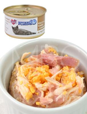 フォルツァ10 プレミアム ナチュラルグルメ缶 チキン・ツナ・チーズ 75g