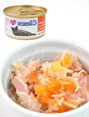 フォルツァ10 CAT プレミアム ナチュラルグルメ缶 ツナ・チキン・パパイヤ75g