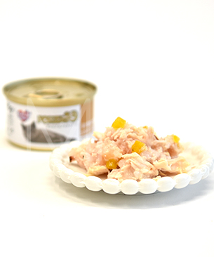 【28位】フォルツァ10 プレミアム ナチュラルグルメ缶 ササミとカボチャ かつお節 75g