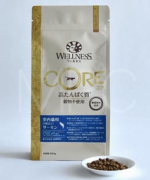 《2.26kgサイズ登場》ウェルネス コア 穀物不使用 室内猫用 サーモン