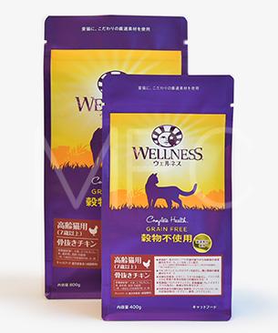 ウェルネス 穀物不使用 高齢猫用(7歳以上) 骨抜きチキン