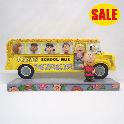 PEANUTS JIM SHORE フィギュア スヌーピー -School Bus Buddies-