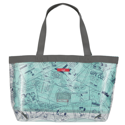 スヌーピー CAPACITY BAG M (CLEAR COMIC/NAVY)