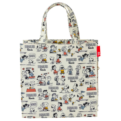 PEANUTS×ROOTOTE ラミネート スクエアバッグ (Friends)
