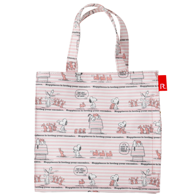 PEANUTS×ROOTOTE ラミネート スクエアバッグ (Happiness)