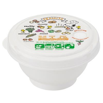 スヌーピー 薄肉ごはん保存容器S お茶椀型 (やさい)
