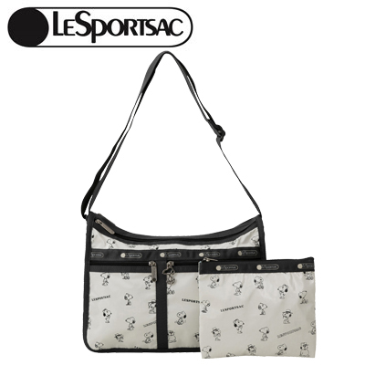PEANUTS×LeSportsac DELUXE EVERYDAY BAG スヌーピー アンド シブリングス パターン