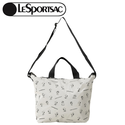 PEANUTS×LeSportsac DELUXE EASY CARRY TOTE スヌーピー アンド シブリングス パターン