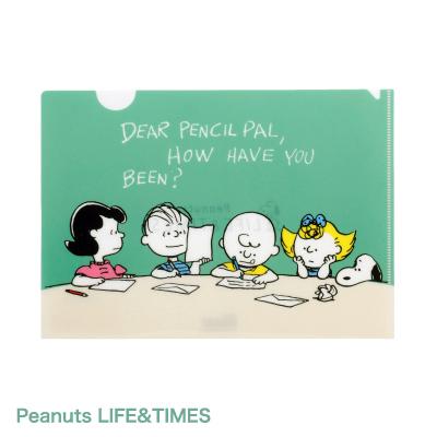Peanuts LIFE&TIMES クリアファイルA5 (グリーン)