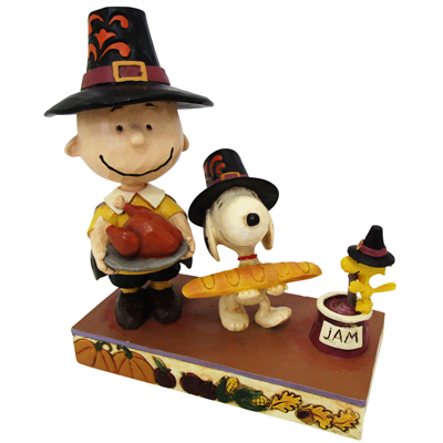 PEANUTS JIM SHORE フィギュアThanksgiving Charlie Brown