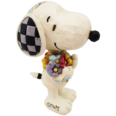 PEANUTS JIM SHORE ミニフィギュア Snoopy with Flowers