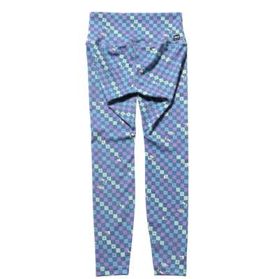 Snoopy Super Tights Checkered Printed タイツ(ネイビーキューブ)