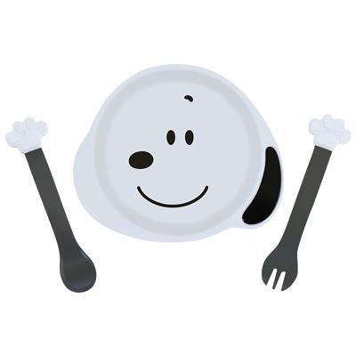 スヌーピー アイコン小皿&スプーン・フォークセット