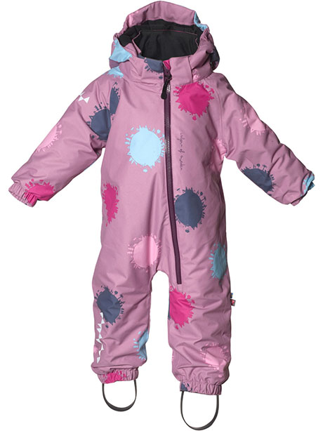 Toddler Padded Jumpsuit(I4A DustyPink Globe, 86cm)