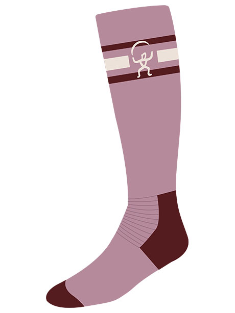 Snowfox Sock(I3W Dusty Pink, 34-36(21-22.5cm))