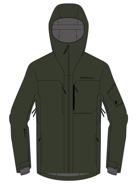 Alpine 2L Jacket(4EP Coniferous Green, M)