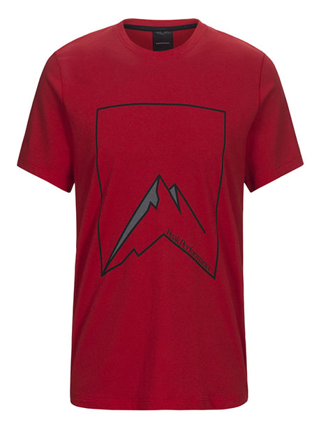 Explore Tee Mountain Pr(5C2 Chinese Red, S)