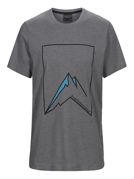 Explore Tee Mountain Pr(M08 Grey Mel, S)