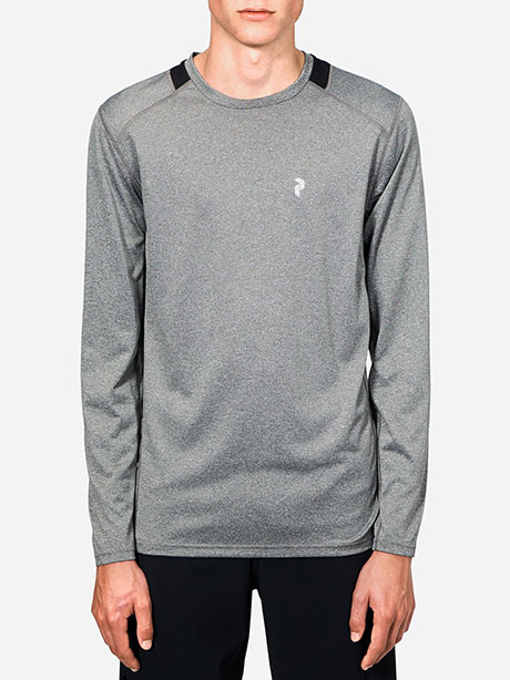 React Long Sleeve(M08 Grey Mel, M)