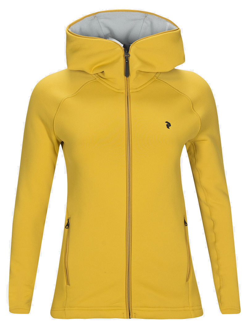 W Chill Zip Hood(738 Yellow Flow, S)