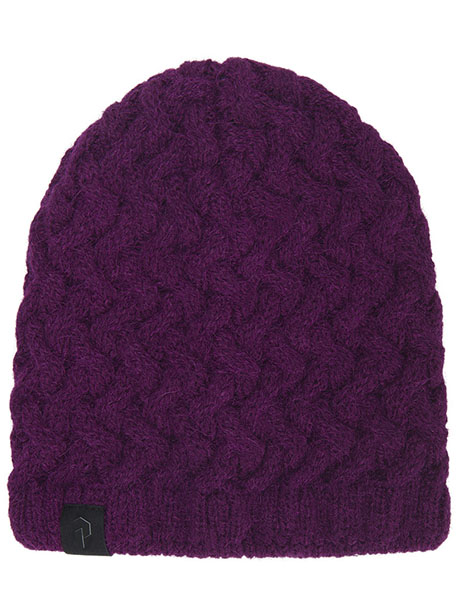 Embo Knit Hat(6E4 Blood Cherry, S-M)