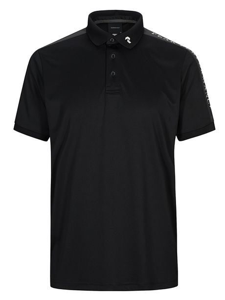 Player Polo Short Sleeve(050 Black, M)