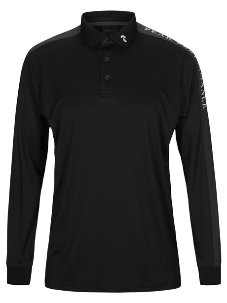 Player Polo Long Sleeve(050 Black, M)