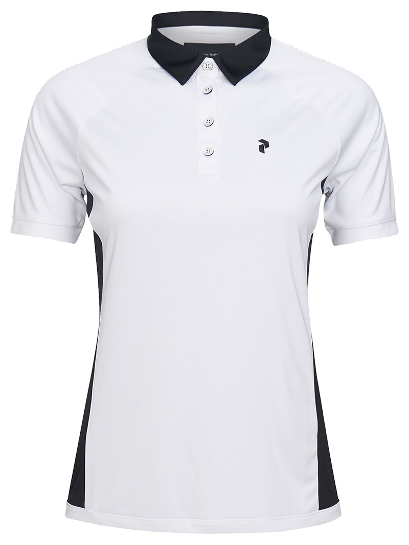 W Slate Block Polo(089 White, L)