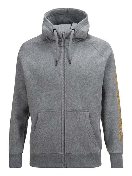 Sweat Zip Hood(M03 Med Grey Mel, S)