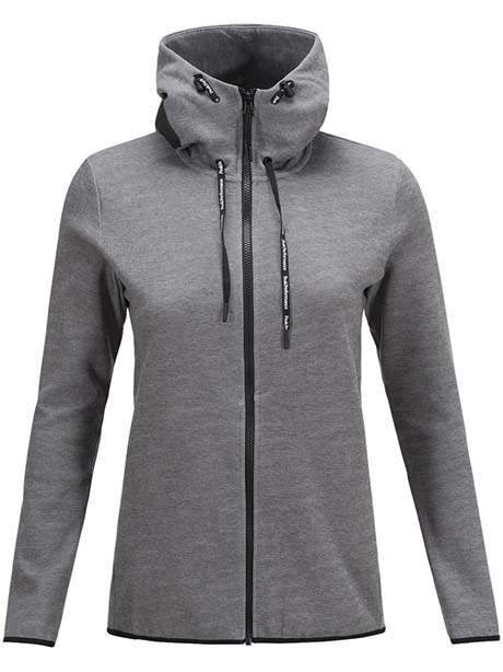 W Tech Zip Hood(089 White, L)