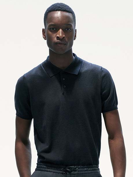 David Short Sleeve(050 Black, M)