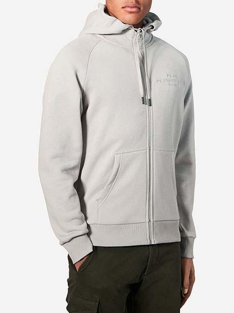 Logo Zip Hood(0BB Mortar Grey, S)