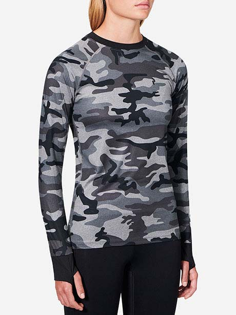 W Spirit Print Long Sleeve Mel