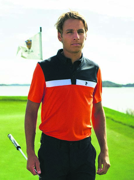 Panmore BD Stripe Polo(5CP Orange Flow, M)