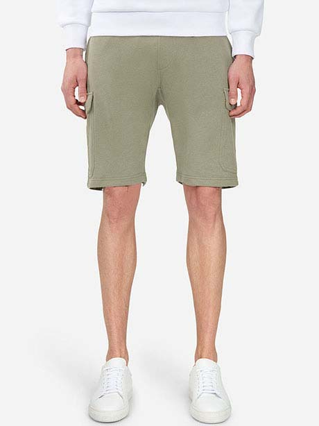 Carton Shorts(4CM Leaflet Green, S)