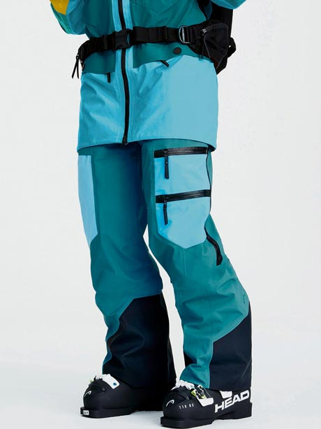 W Vertical Pants(2BN Deep Aqua, XS)