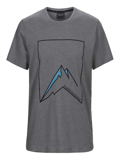 Explore Tee Mountain Pr(M08 Grey Mel, XL)