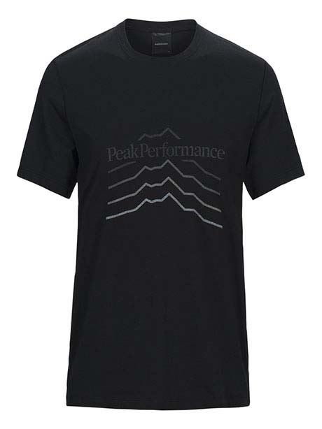 Explore Tee Hill Print(050 Black, M)