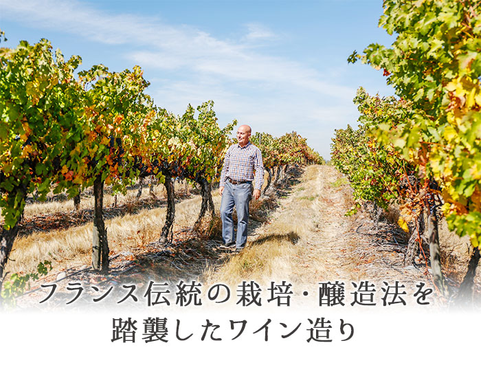 フランス伝統の栽培・醸造法を踏襲したワイン造り