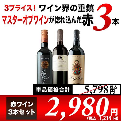 SALE!ワイン界の重鎮マスターオブワインが惚れ込んだ赤3本